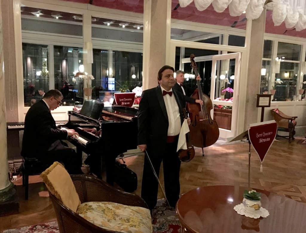 Piano trio at Grand Hotel Villa Serbelloni