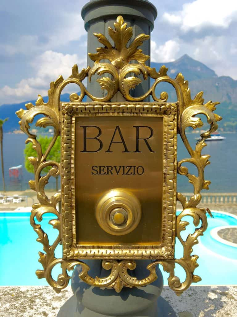 Bar service bell at Grand Hotel Villa Serbelloni