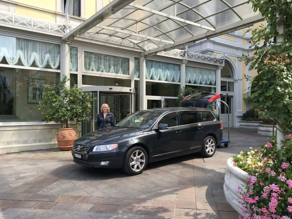Our rental car at the Grand Hotel Villa Serbelloni