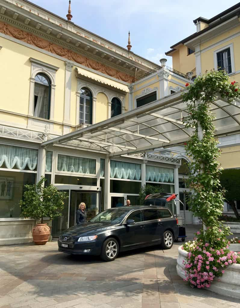 Arriving at the Grand Hotel Villa Serbelloni on Lake Como