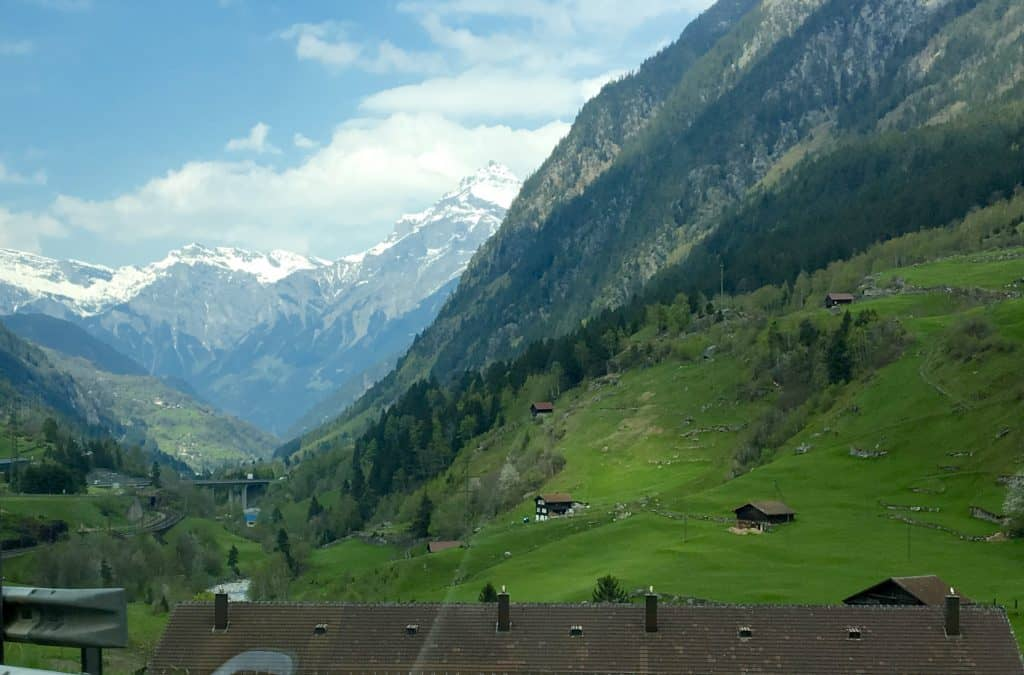 View in Switzerland, driving to Zurich from Italy.