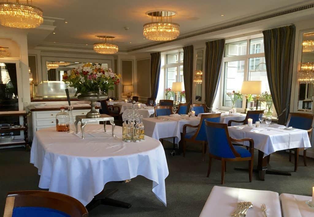 Hotel Schweizerhof restaurant.