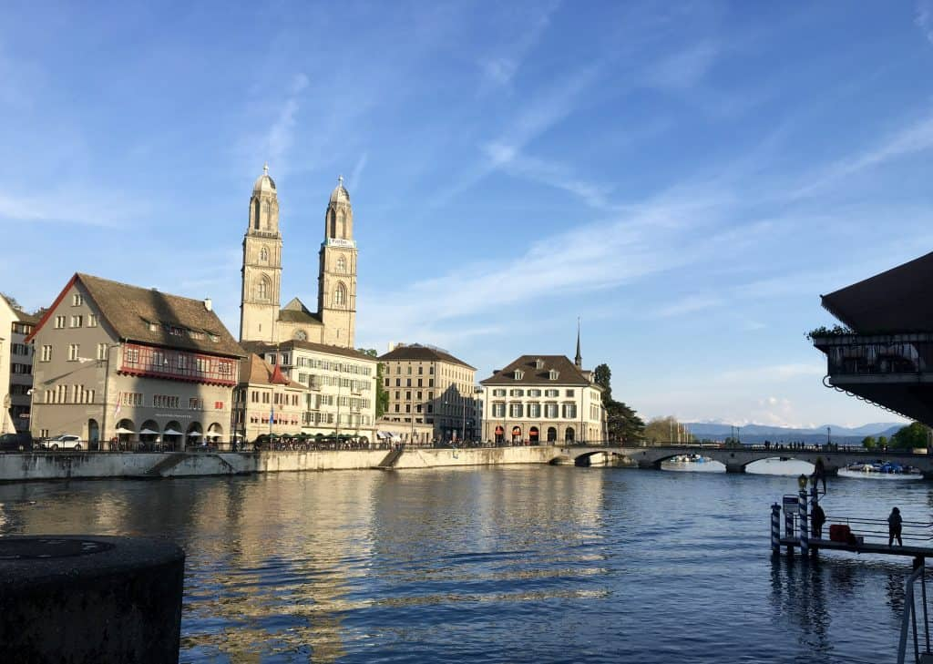 Limmat River in Zürich