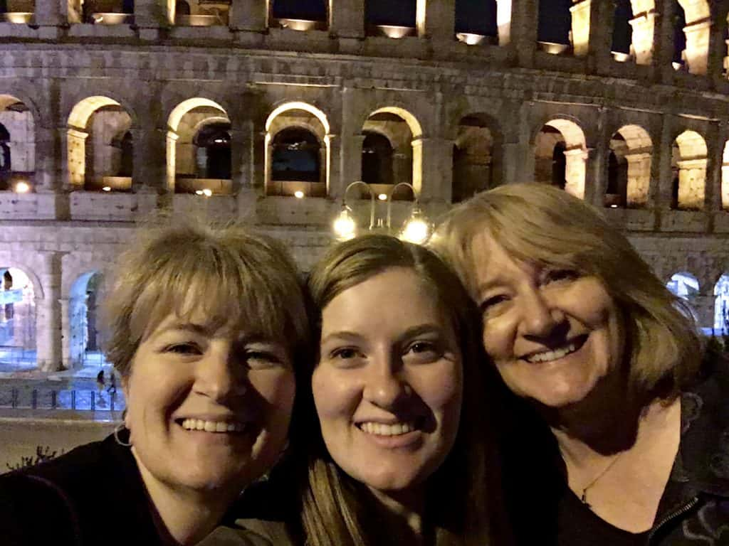 Family selfie at the Coloseum