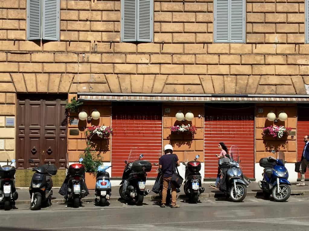 Roman street scene.