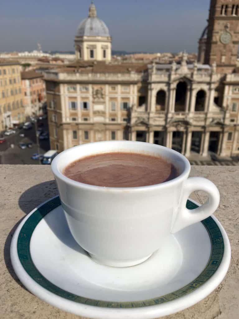 Hot chocolate in Rome.