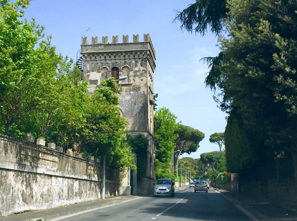 Driving in the outskirts of Rome