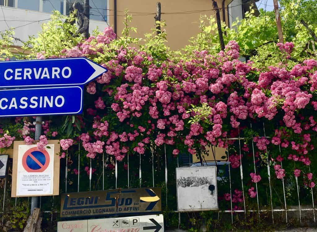 Cervaro Cassino sign.