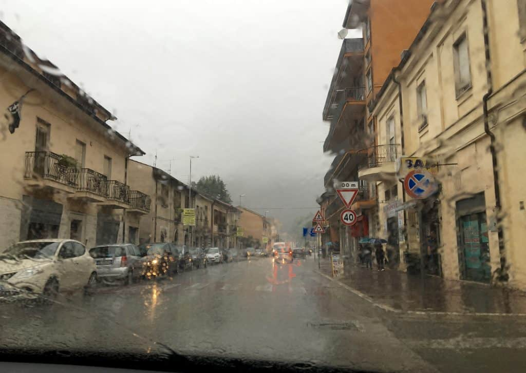 Rainy day in Sora, Italy