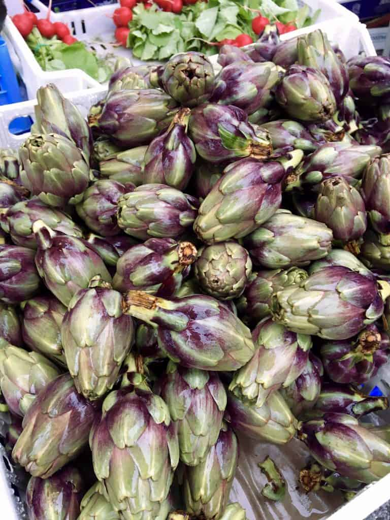 Artichokes at the Sora market