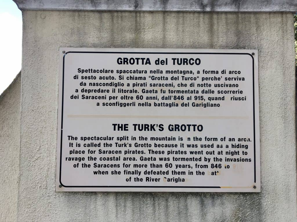 Turk's Grotto in Montagna Spaccata
