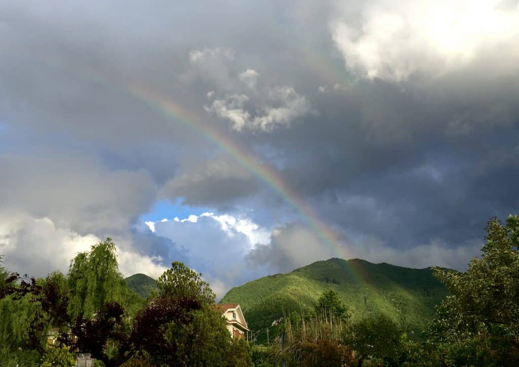 Rainbow in Villa Latina, Italy