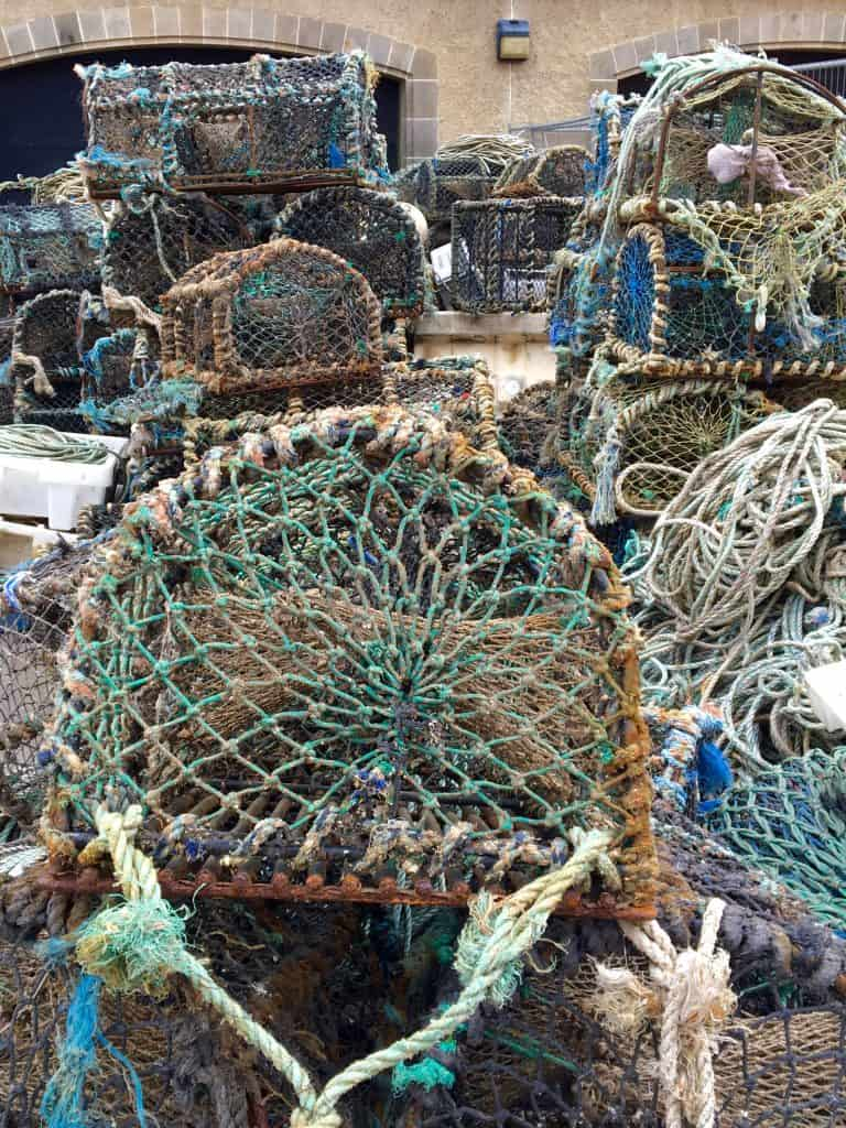 Fishing nets in Pittenweem, Scotland
