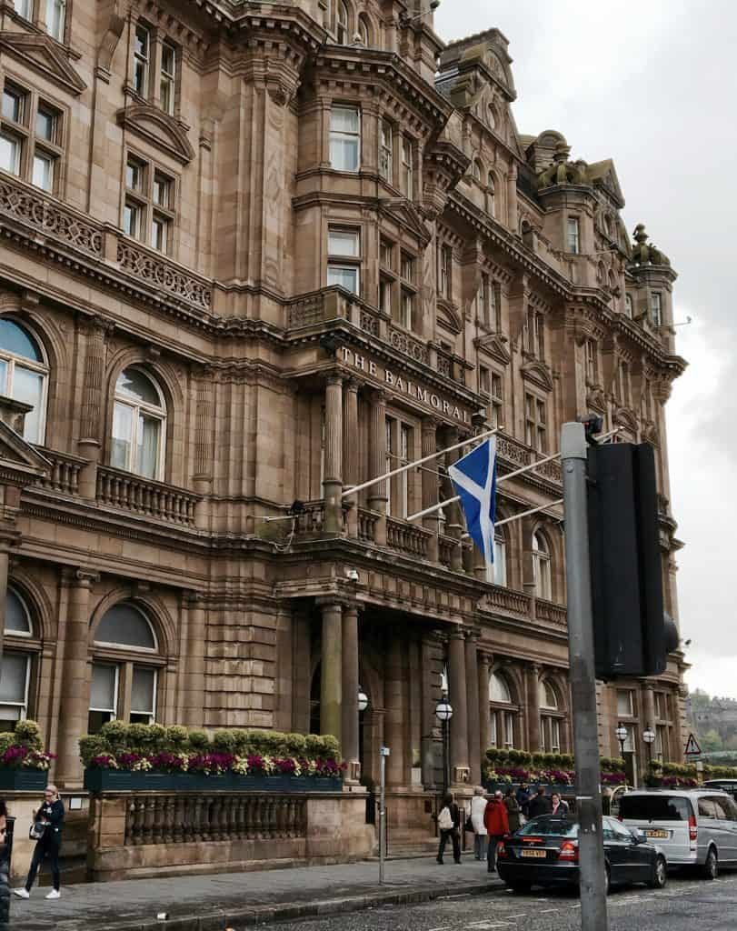 The Rocco Forte Balmoral Hotel in Edinburgh