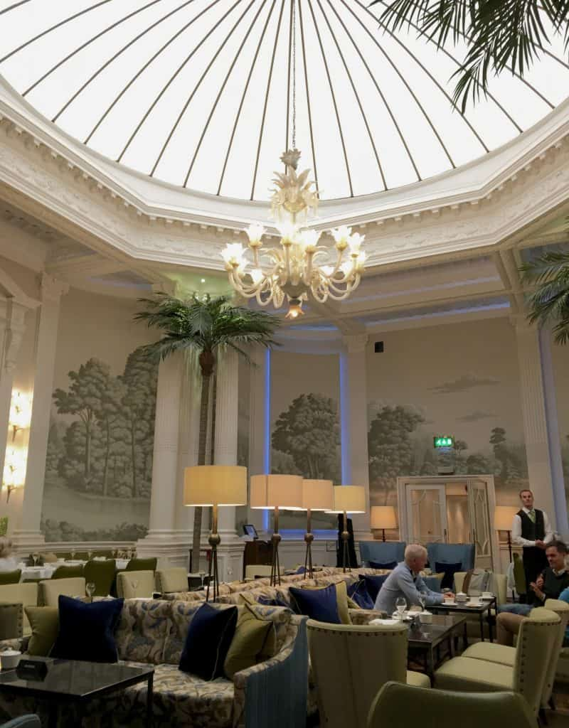 Palm Court at the Balmoral Hotel in Edinburgh for afternoon tea.