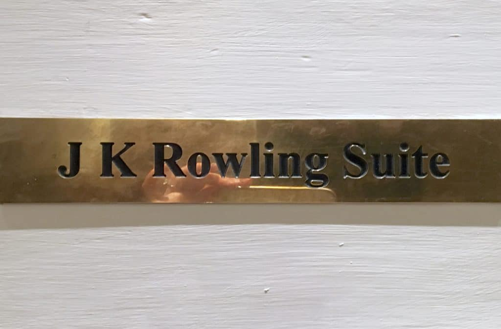 The JK Rowling Suite at the Balmoral Hotel in Edinburgh