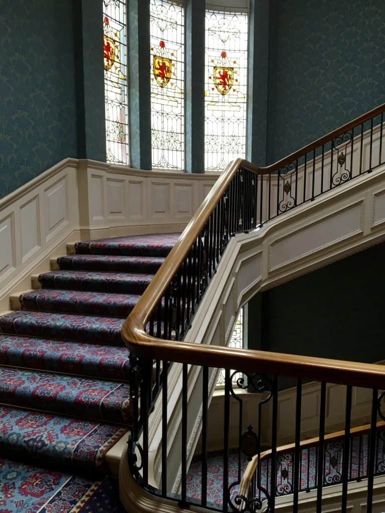 Staircase in the Balmoral Hotel. Inspiration for Harry Potter's Hogwarts?