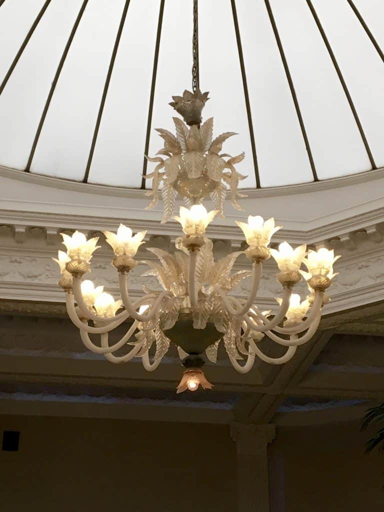 Venetian Chandeler in Palm Court in the Balmoral Hotel in Edinburgh
