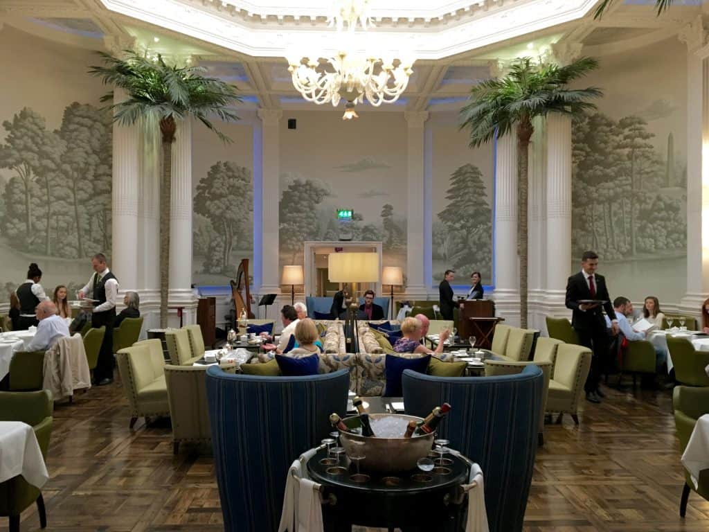 Palm Court in the Balmoral Hotel in Edinburgh