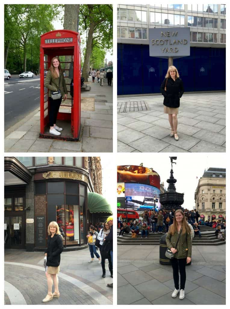 Typical London tourist photos
