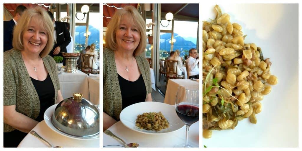 Mum's gnocchetti sardi at Grand Hotel Villa Serbelloni