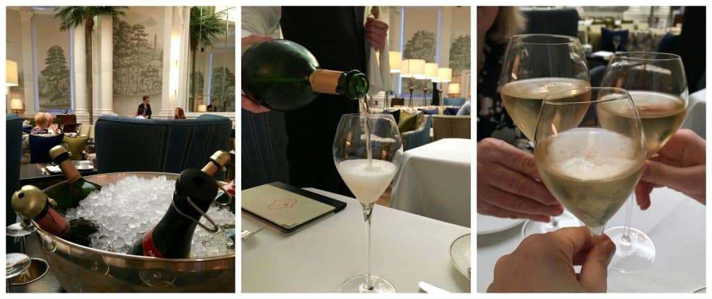 Ruinart Champagne at the Balmoral Hotel afternoon tea