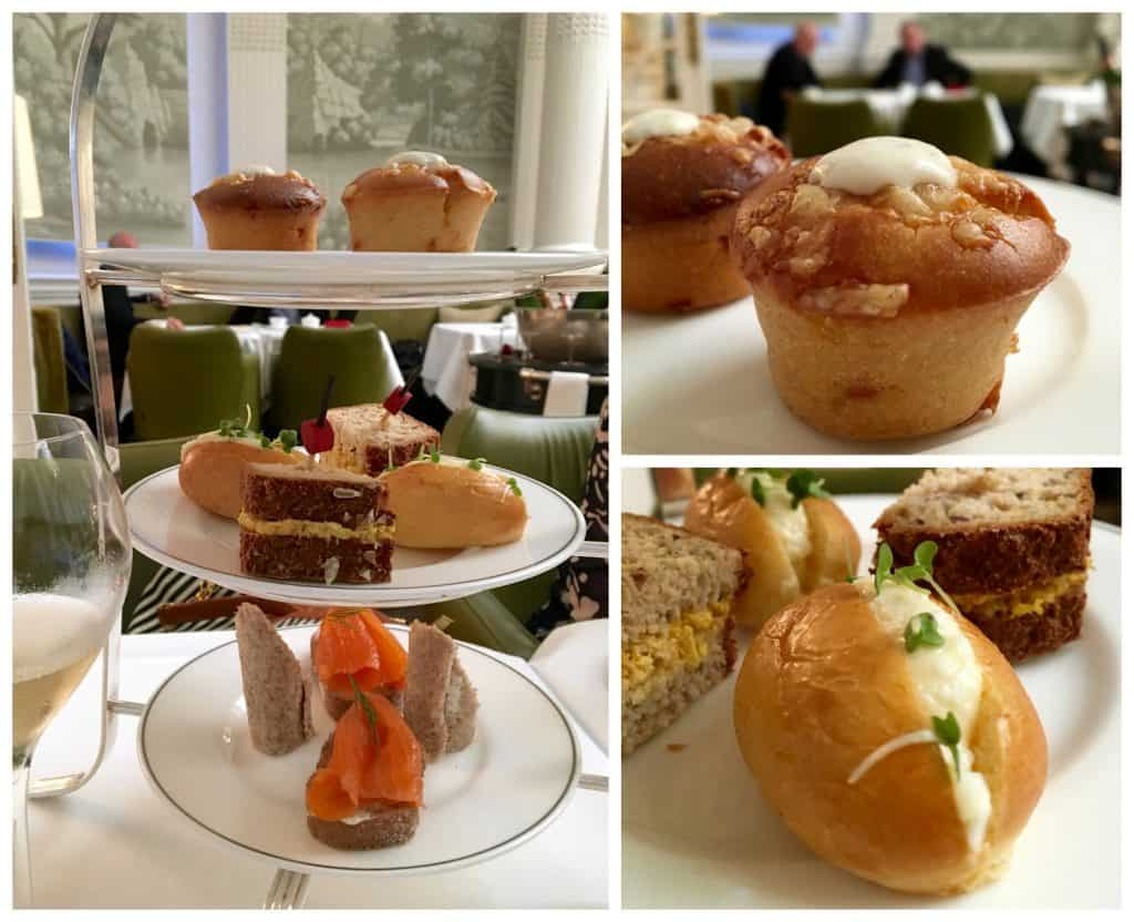 Afternoon tea selection at the Balmoral Hotel in Edinburgh