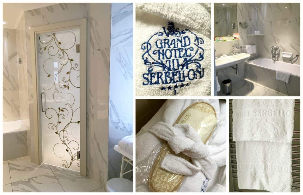 Bathroom at the Grand Hotel Villa Serbelloni