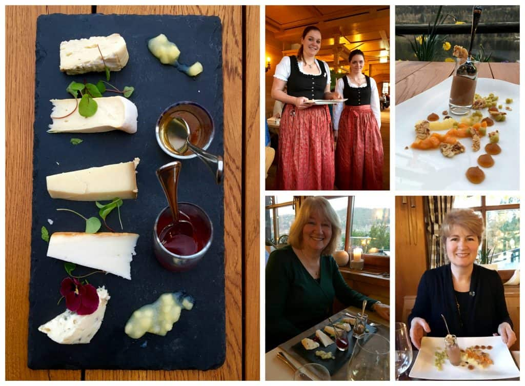 Cheese and dessert at Hotel Alemannenhof