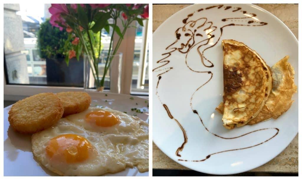 Cooked breakfast options at Hotel Schweizerhof