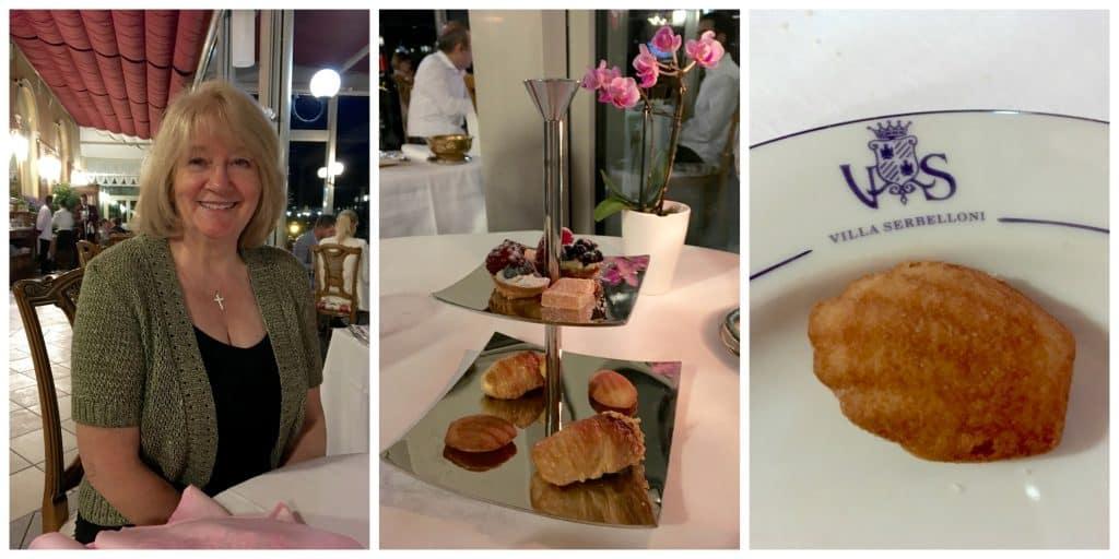 Sweet tray at Grand Hotel Villa Serbelloni