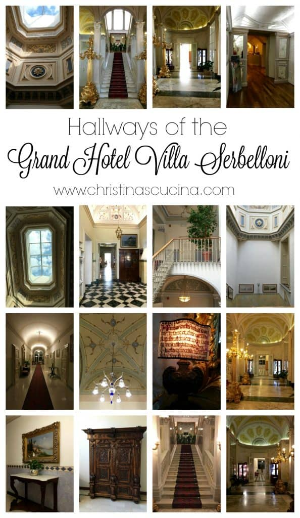 One could be content to endlessly wander the hallways at the Grand Hotel Villa Serbelloni!