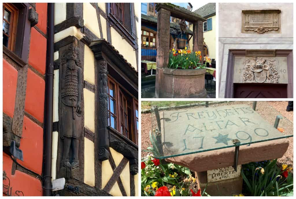 Sights of Riquewihr, France.