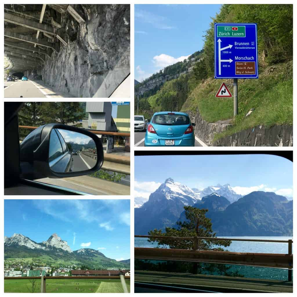 Scenery on the drive to Zurich