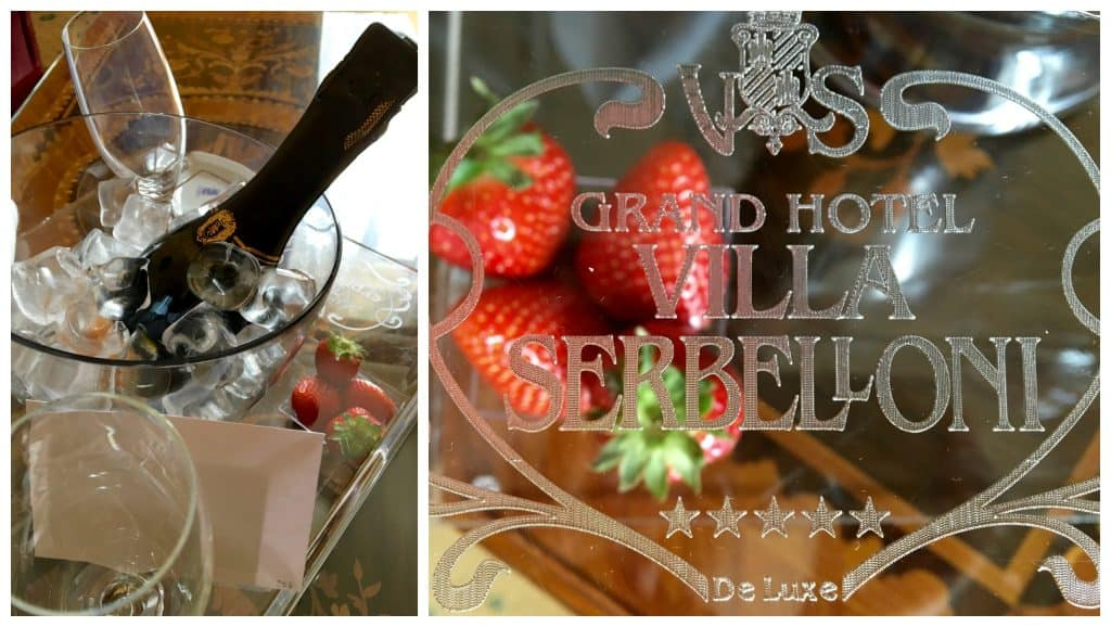 Strawberries and sparkling Italian wine!