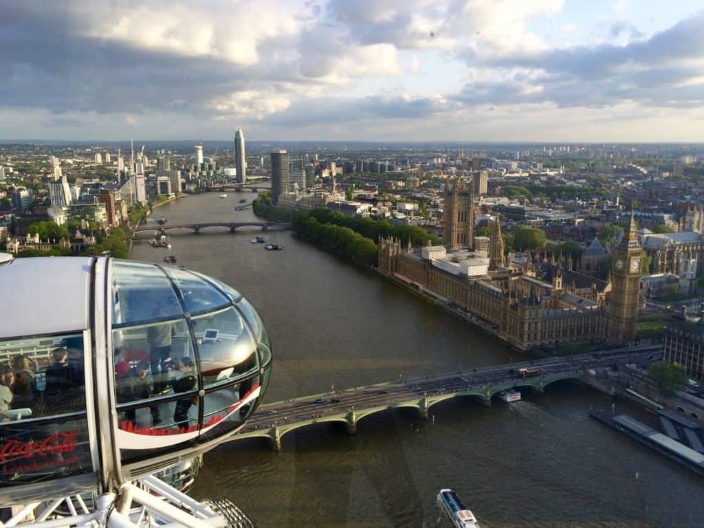 London Eye capsule view