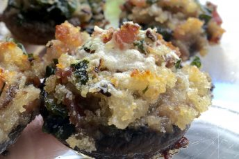 St Andrews, Scotland and Aunt Virginia's Recipe for Bacon and Onion Stuffed Mushrooms