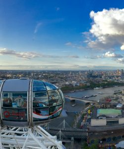 From inside the Coca Cola London Eye