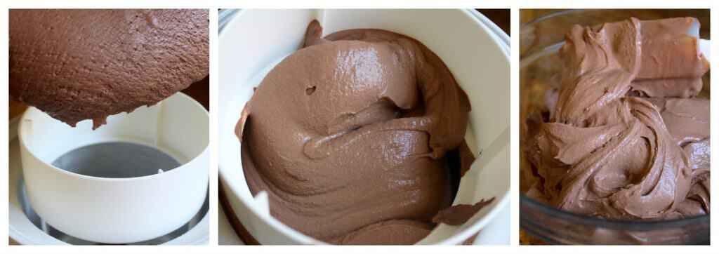Making chocolate ice cream