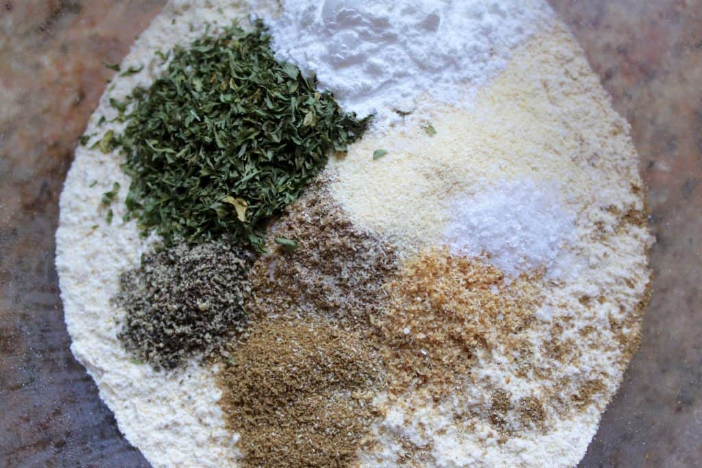 making homemade DIY falafel mix