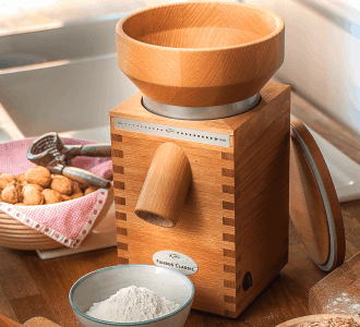KoMo Classic Grain Mill Review & Giveaway and How to Make Your Own (DIY) Gluten Free Falafel Mix!