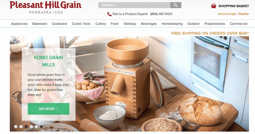 Pleasant Hill Grain's website