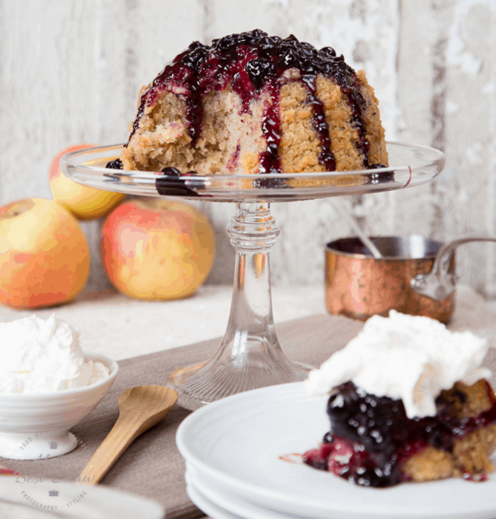 Apple and Blackcurrant Steamed Pudding from Helen at Fuss Free Flavours