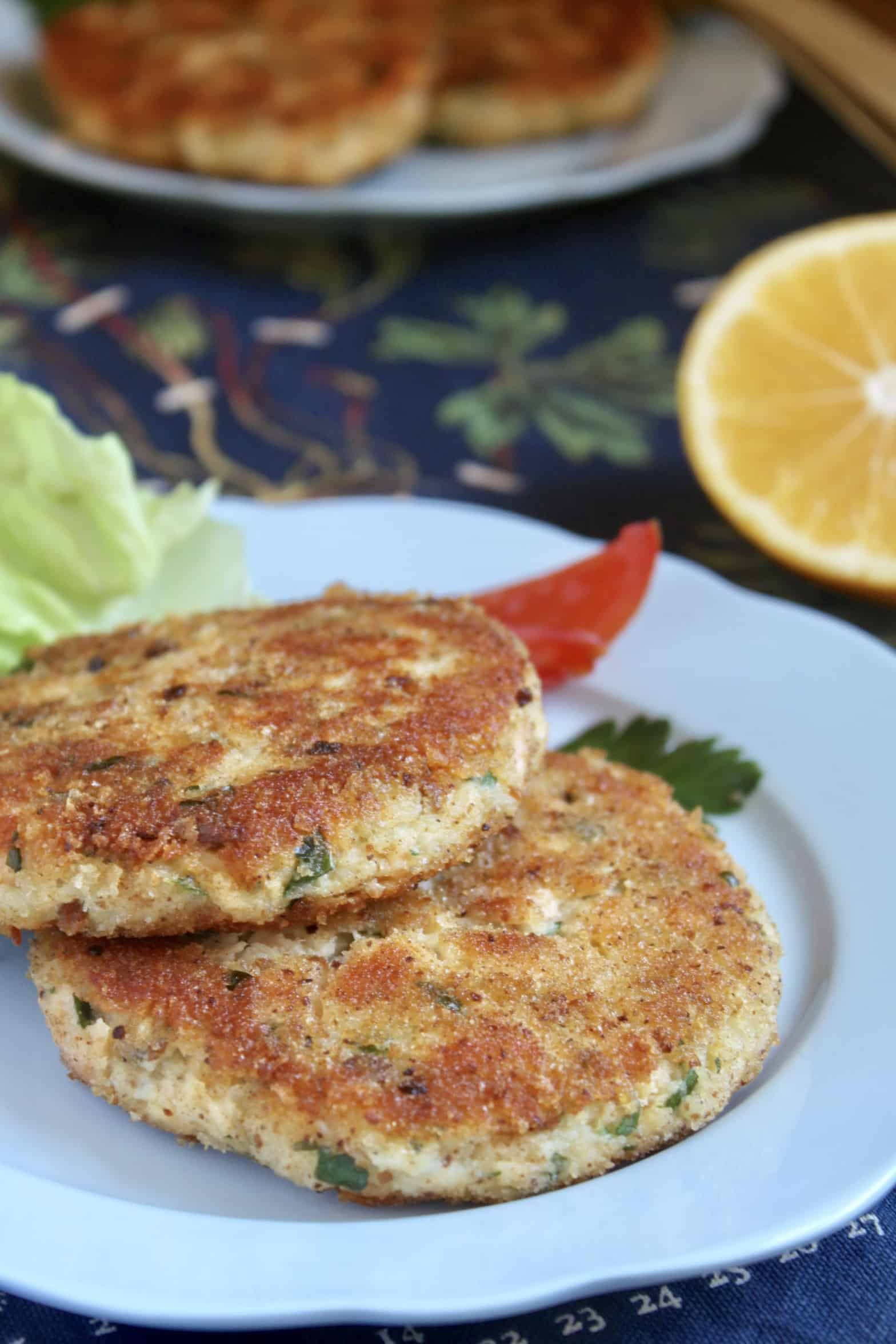 fish cakes made with fresh salmon