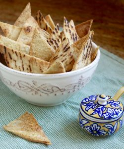 Garlic Baked Pita Chips