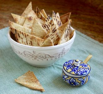 Crunchy Garlic Baked Pita Chips for a Snack or Use With a Dip