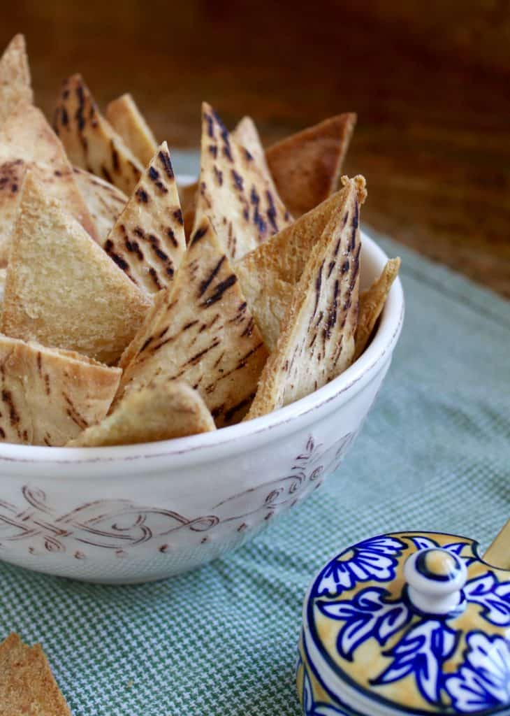 Garlic Baked Pita Chips