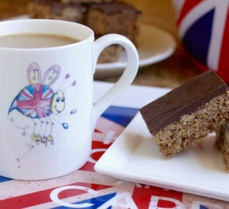 Australian Crunch Bars (with a Gluten Free Version) and a Bee's Knees British Imports Teatime Giveaway!