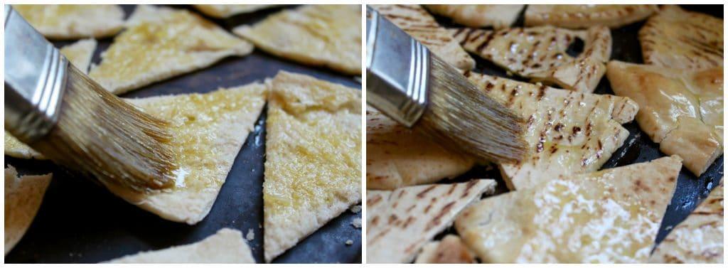 Making pita chips