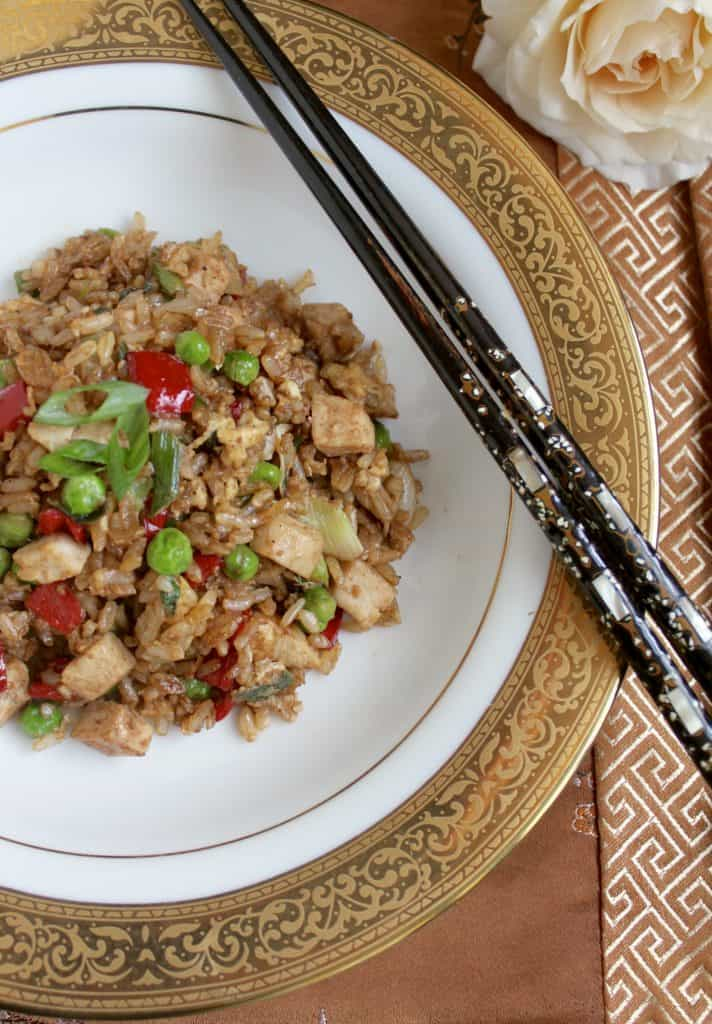 Fleming's Turkey Fried Rice prepared by Christina's Cucina